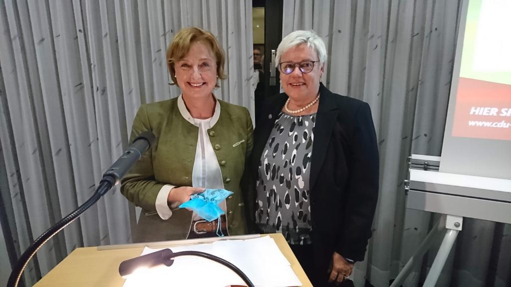 Europa-Kandidatin Rita Lanius-Heck mit der Stadtverbandsvorsitzenden Sabine Brunk.